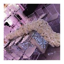 LFB529 2m luxury cream white wedding table flower / hot sale party decoration flower flowers for wedding decoration stage