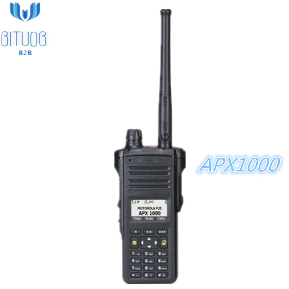 APX1000 Modle3 VHF UHF range1 or 2 P25 portable radio with 512 Channels two way Analog Digital walkie talkie full keypad
