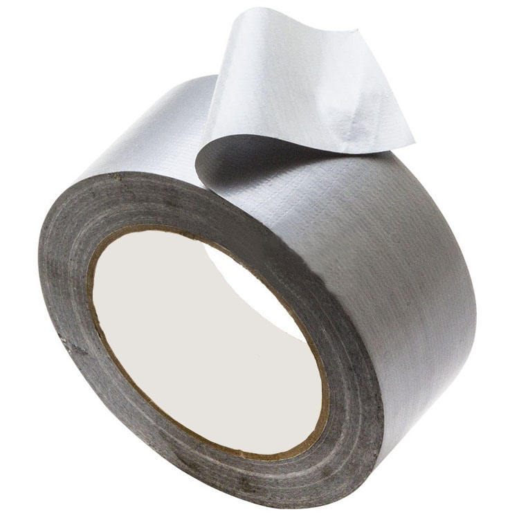 Silver Heavy Duty Duct Cloth hot melt high Adhesive Tape For Pipes