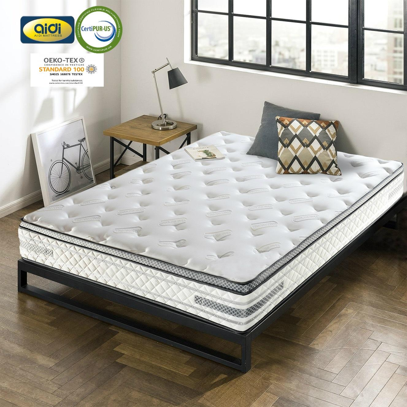 AIDI 7-zone pocket spring materassi rolled mattress bed for sale king size mattress prices bed and kasur pocket coil mattress