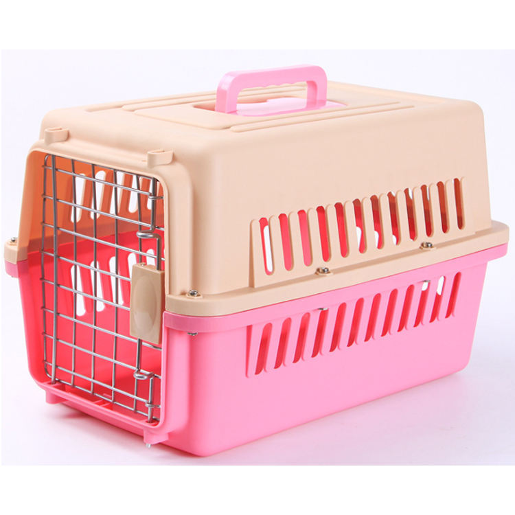 Luxury Airlines approved plastic dog carrier travel cat trolley cage outdoor pet air box