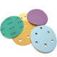Purple abrasive sanding disc sandpaper like 3M product