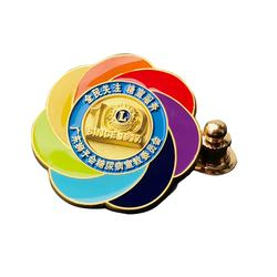 Custom Your Own Design Cheap Badge Plated Metal Material Lions Club Lapel Pin Badges