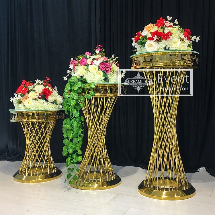Wedding events metal column flower stand for wedding