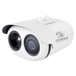 High accuracy dynamic face recognition body temperature measurement camera set 2MP resolution IP camera