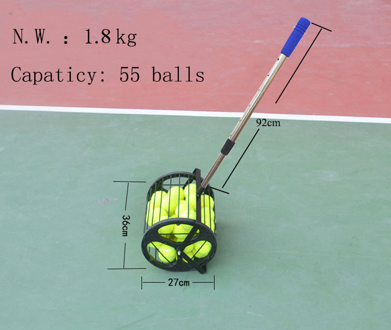 Tennis Ball Pick Up Tennis Ball Picker Collector Training Equipment for Wholesale