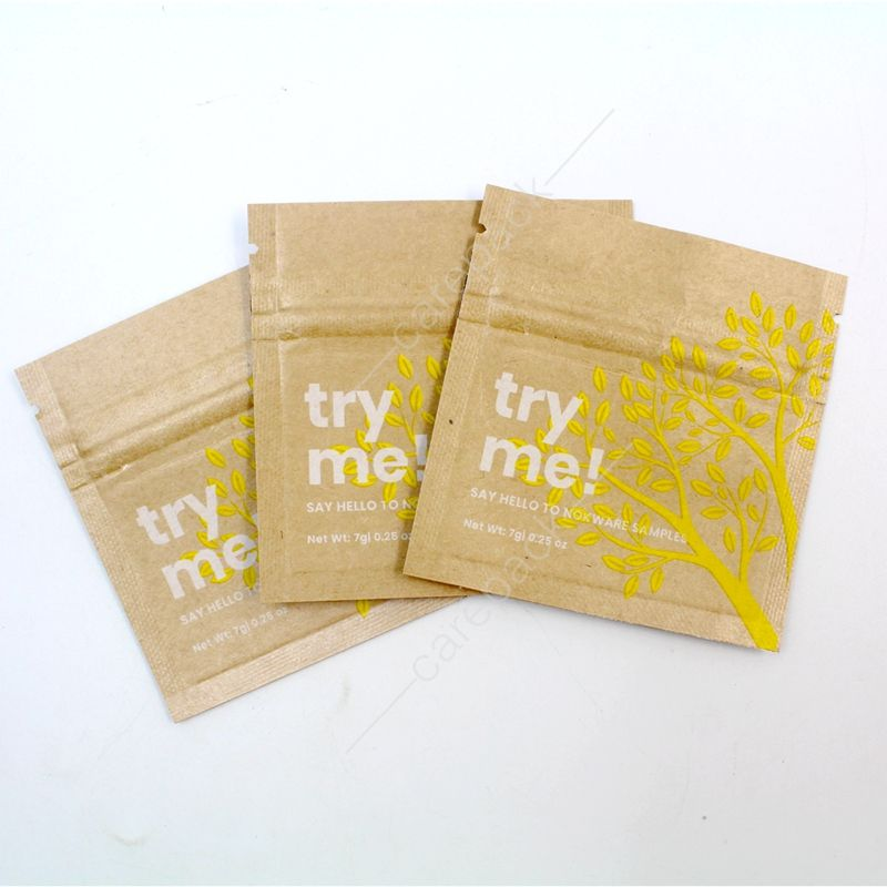 eco friendly water proof kraft paper sachet for matcha green tea