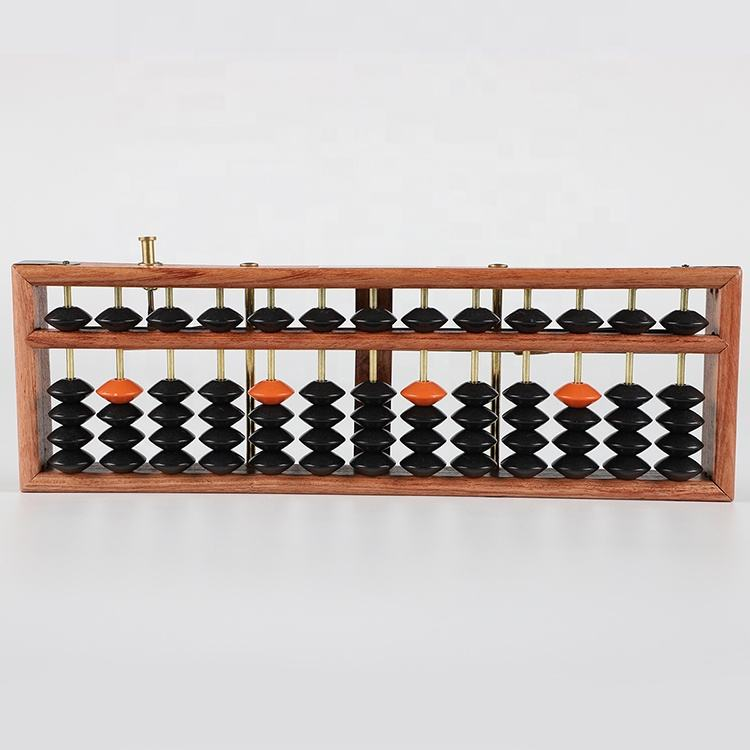 China new toy children leared abacus 13lines 5 beads elementary math education rosewood abacus