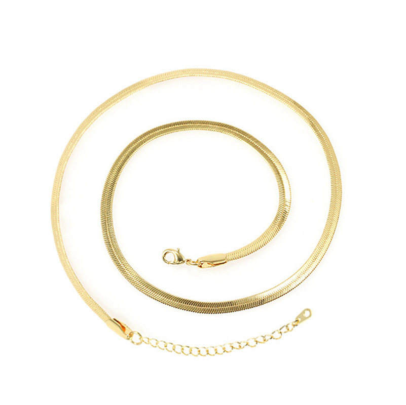 foxi jewelry Stainless Steel Miami Cuban Link 18K Gold Plated Chain Necklace Jewelry