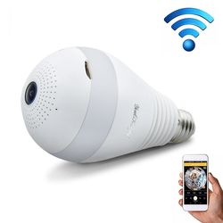 1080P HD 360 Degrees LED Sensing Bulb Panoramic WiFi IP Camera Wireless Home Security Camera