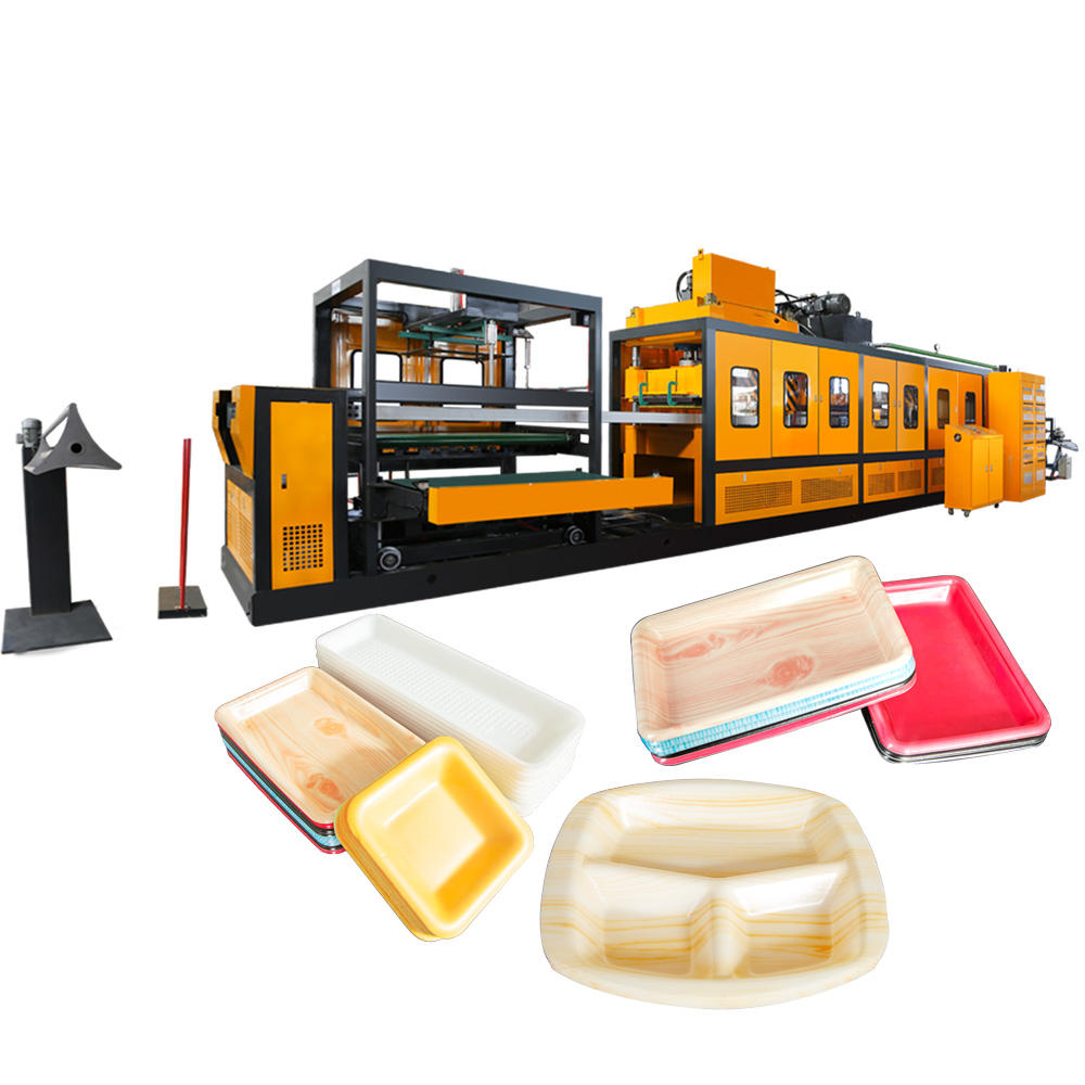 disposable thermocol plastic ps foam plates take away food container making machine