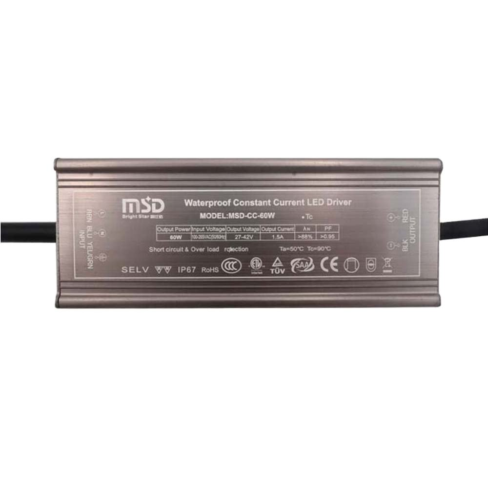 5 years warranty CE ROHS TUV SAA waterproof constant constant approved 56W LED driver power supply 1400mA