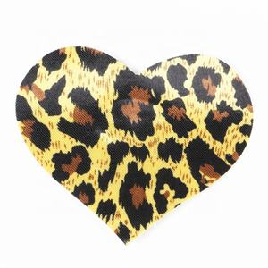 Leopard Adhesive Nipple Pads Sexy Boobs Breasts Stickers Heart Disposable Nipple Cover Pasties
