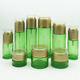 Green Cosmetics Packaging Green Round Glass Bottle Old Cosmetics Packaging Bottle