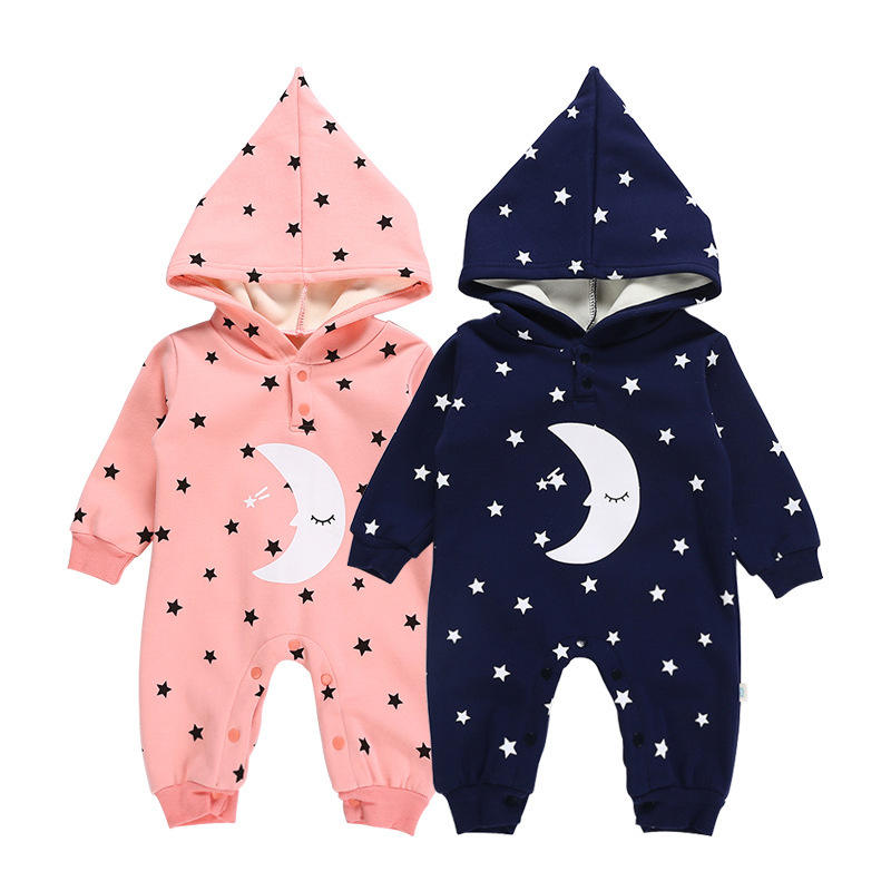 New Arrival Toddler Outfit Newborn Baby Clothes Clothing Long Sleeve Romper With Hoodie
