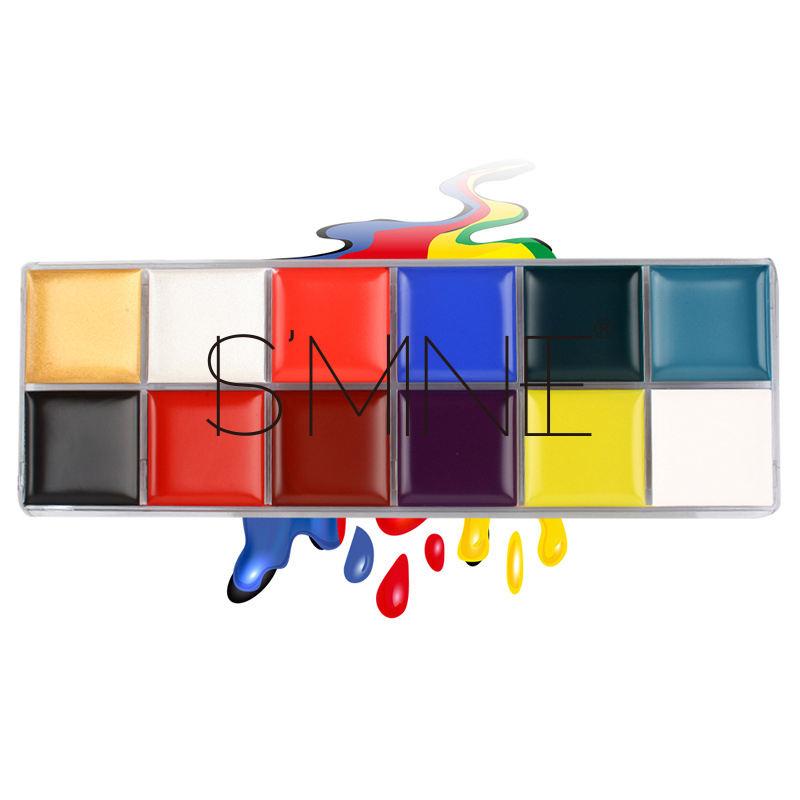 Wholesale Price 12 Color Professional Christmas Face Body Paint Pigments Kit