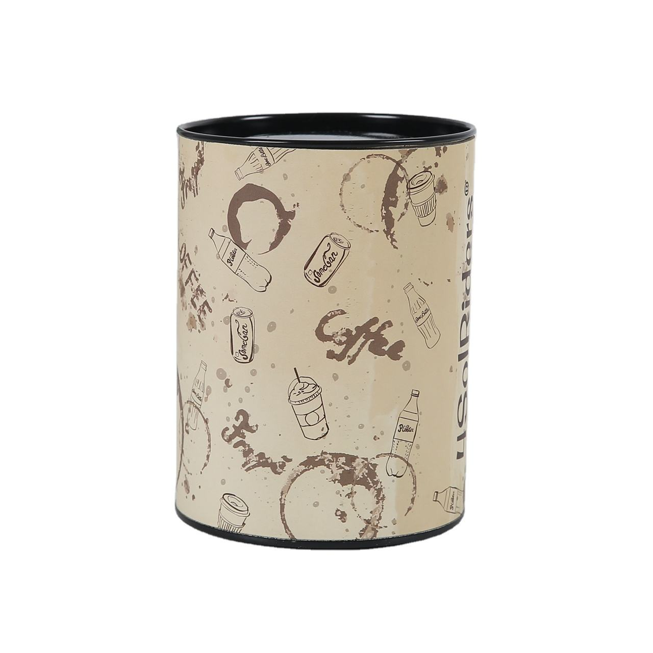 Small Cylinder Cardboard Can Tea Packaging Paper Tube With Tin Lid