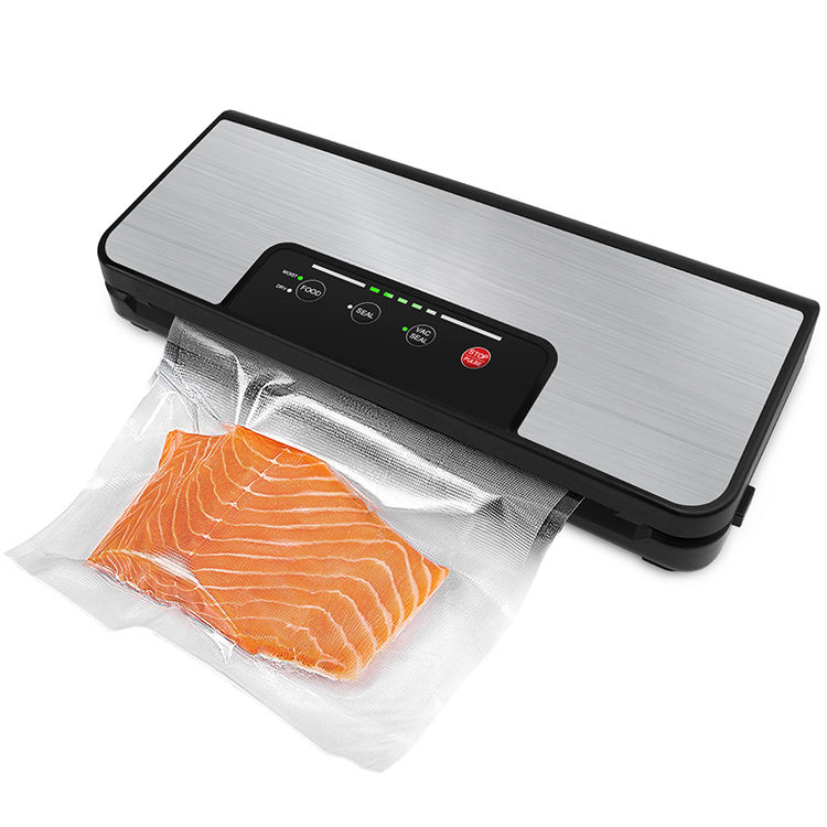 Stainless Steel Household Vacuum Sealer MachineとRoll Holder Built-CutterでPulse Function Dry MoistとVacuum Bags
