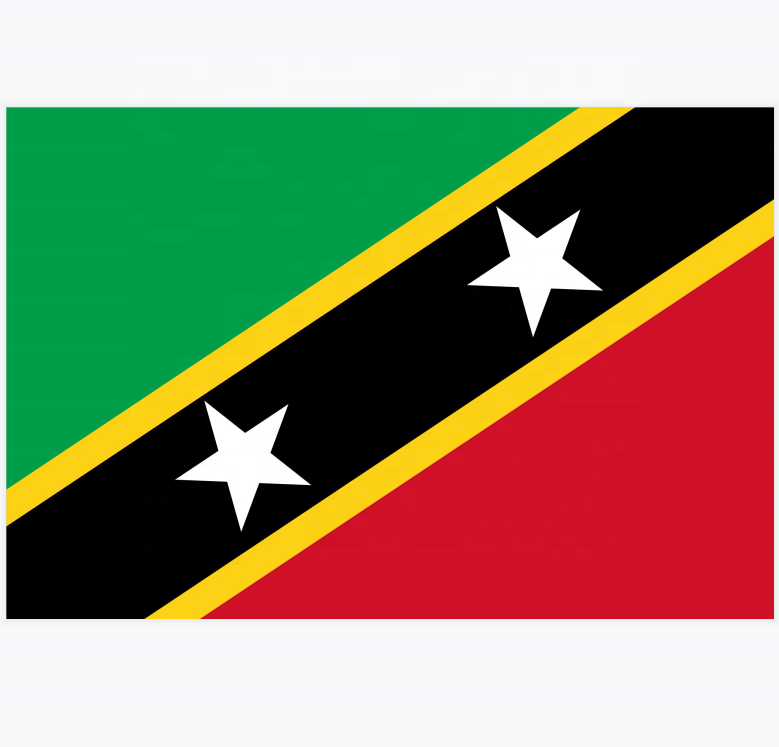 3 * 5ft 100% Polyester Saint Kitts En Nevis Nationale Land Vlag