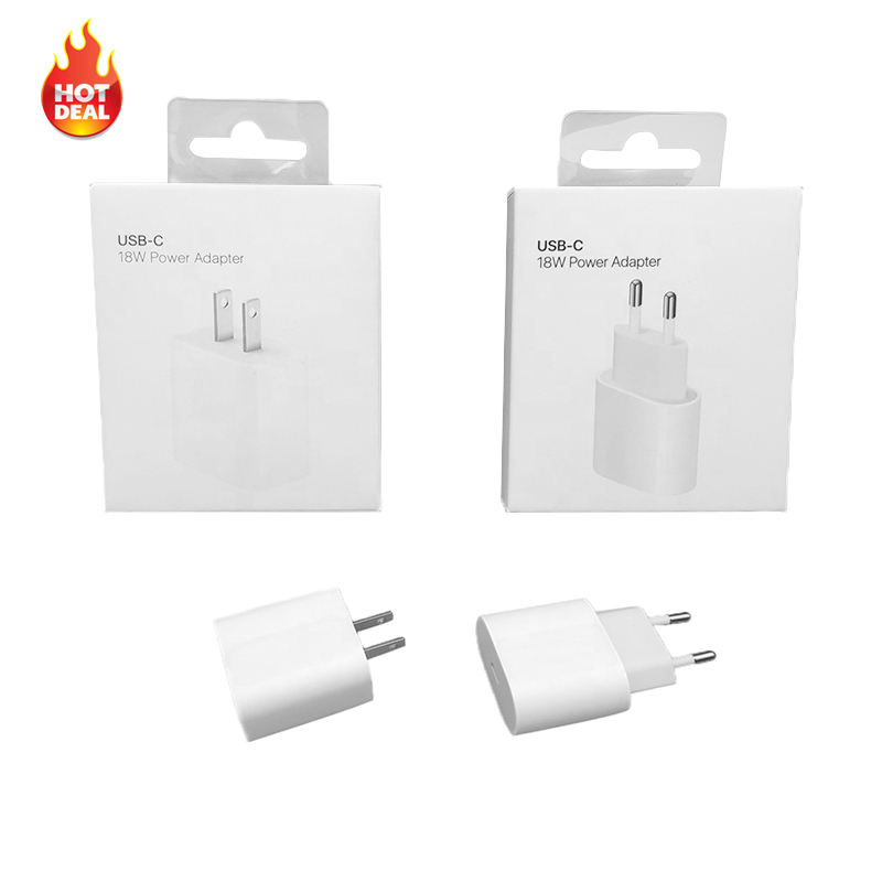 Factory Price 18 W Phone Charger Fast Charging 18W PD Fast Charger For iphone 12 / 12 Pro / 12 Pro Max