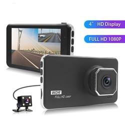 4.0'' 1080P hd car camera front and rear night vision car dvr dual lens video recorder car camera