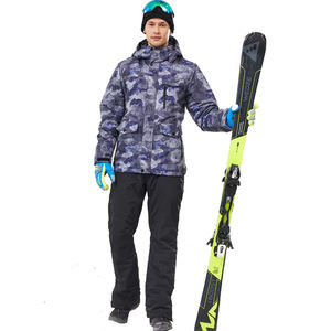 Men's waterproof and windproof sports jacket ski jacket and pants set