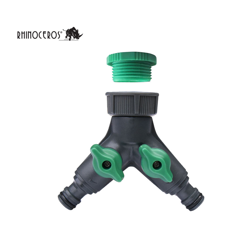 Garden Irrigation Connection Watering, Tool Tap Plastic 2 Way Garden Water Hose Connector/
