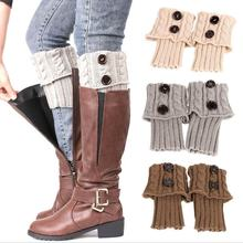 Woman New Design Cable Knitted Boot Cuffs, Woman Ruffled Knitted Leg Warmer, Loom Knitting Leg Warmer