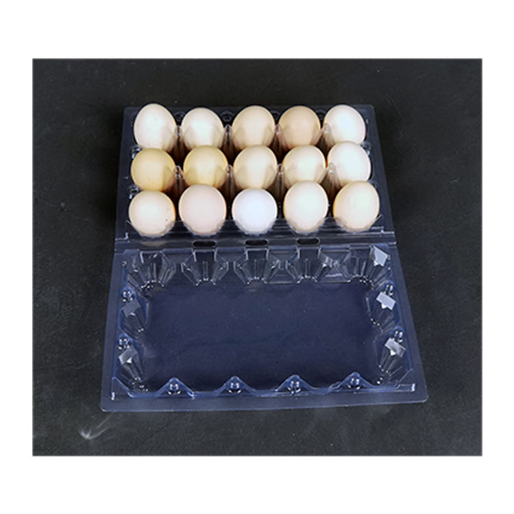 customized hot sale transparent Wholesale tray Holds 15 Clear fresh eggs per box