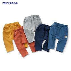 MINIZONE Baby Pants Trousers Kids Cotton Pants Wholesale  Winter Harem pants
