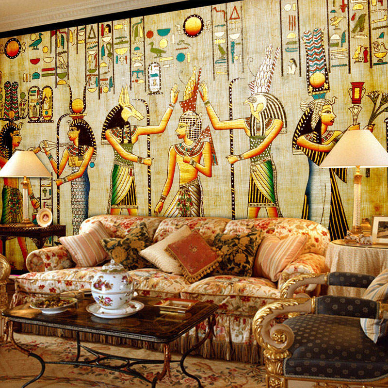 Custom Wall Mural Wallpaper Egyptian Figures Large Wall Murals Living Room Restaurant Bedroom Home Decor Wall Paper Classic 3D