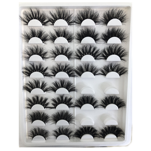 Großhandel Nerz Lashes Individuelle Eshinee 25mm Wimpern Paket Box Private Label Wimpern