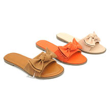 PU plain upper slippers casual lady flat sandal women shoes sandals outdoor slipper