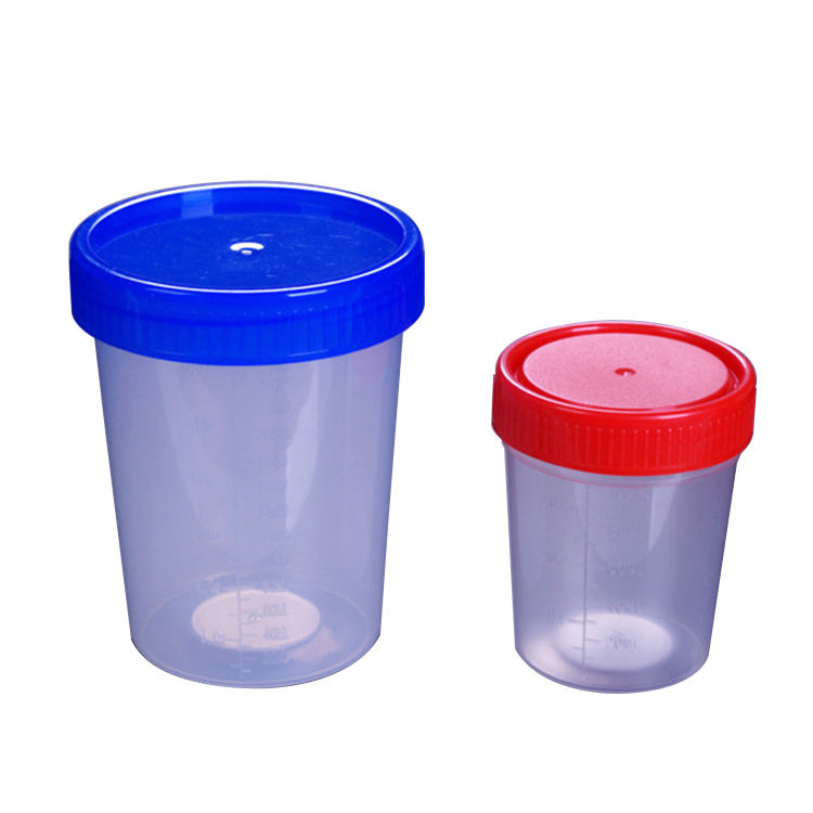 10ml,15ml,30ml,40ml,50ml,60ml,120ml,250ml sterile urine specimen test cup container