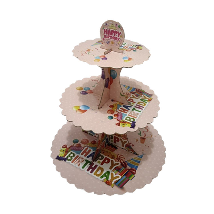 High Quality Cheap Lovely Kids Paper Cup Cake Stand