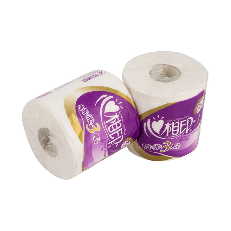 Custom printed high quality plastic toilet paper tissue roll packaging bag