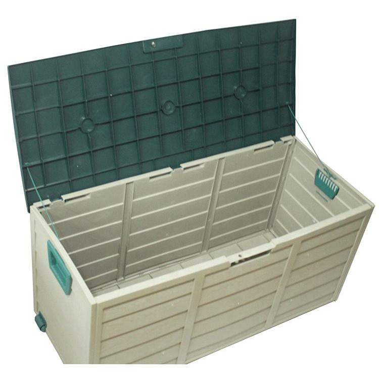Heavy Duty Outdoor Gardem Storage Box Large Tool Box Shed Plastic Garden Trash Bin