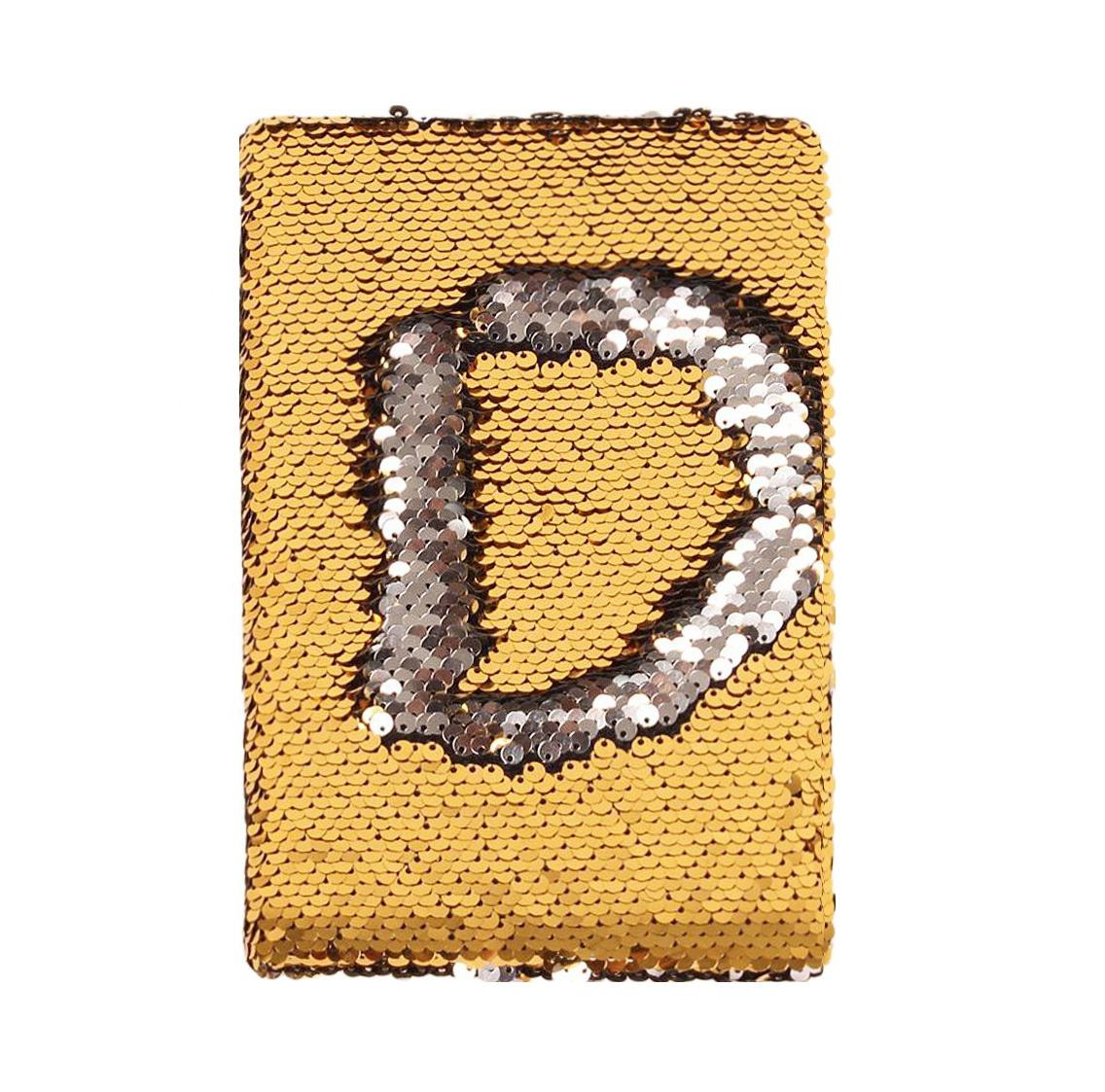 love encryted bead embroidery fish scale sequin diary two color flip pvc gift notebook