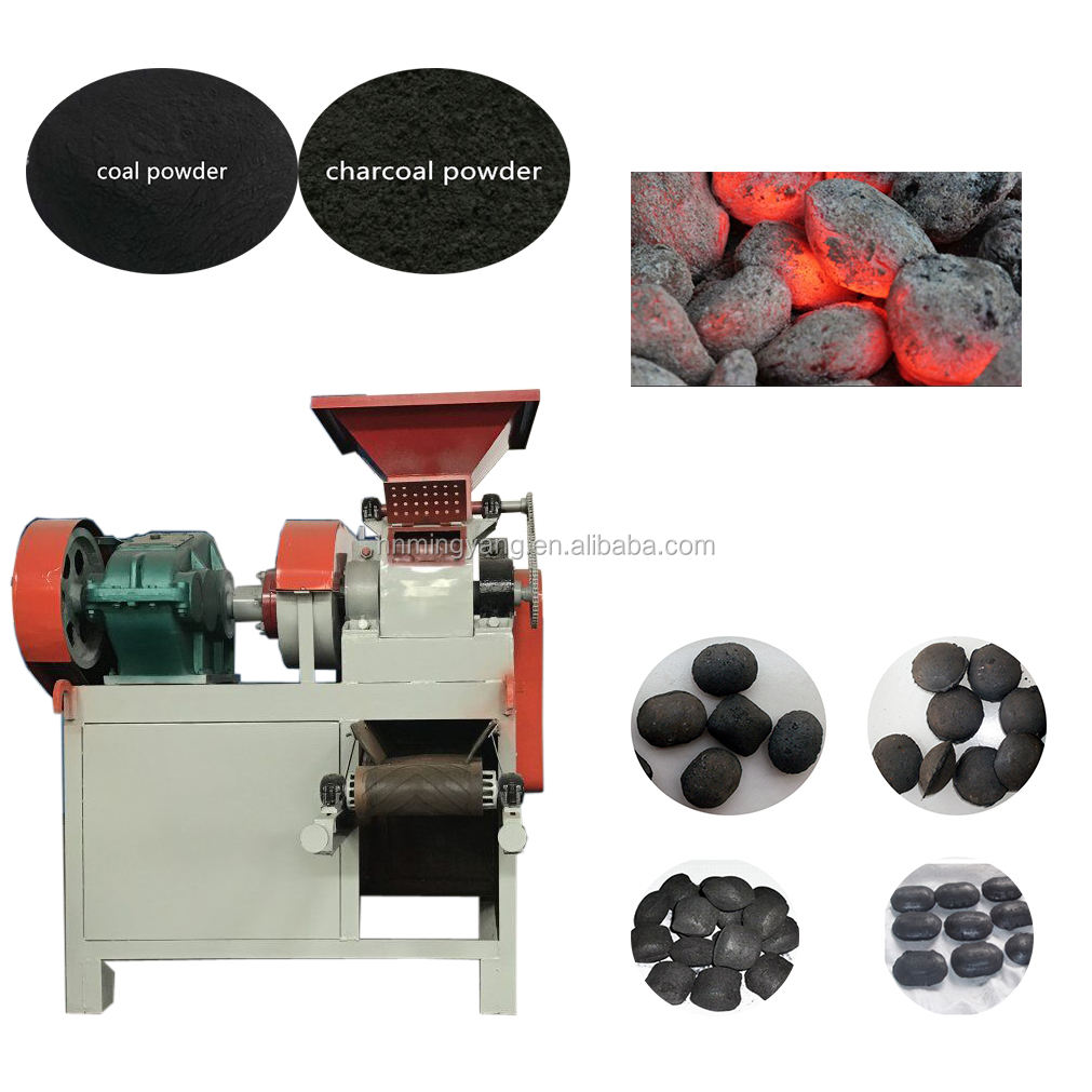 Egg Shaped Coal Press Machine Charcoal Coal Ball Briquette Machine Roller Press Briquetting Machine