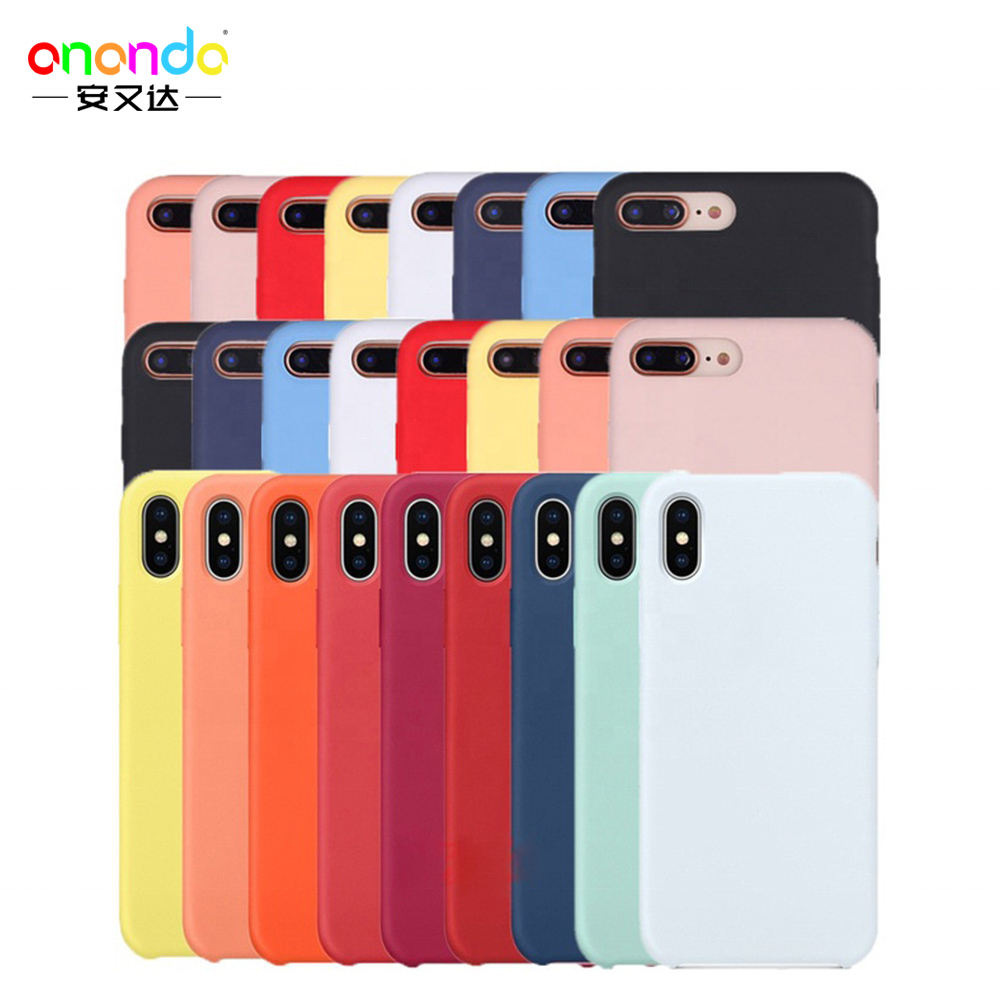 56 colors Liquid Silicone Rubber phone cover for iPhone case