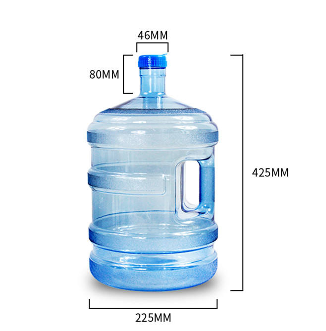 Drinking Water Bottle Reusable Half Gallon 1.89 L Jug Canteen Container Blue USA