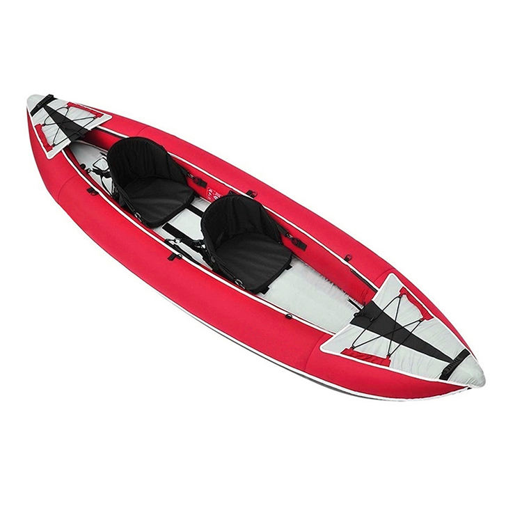 New Product Red Drop Stitch Inflatable Kayak Canoe 2 Person