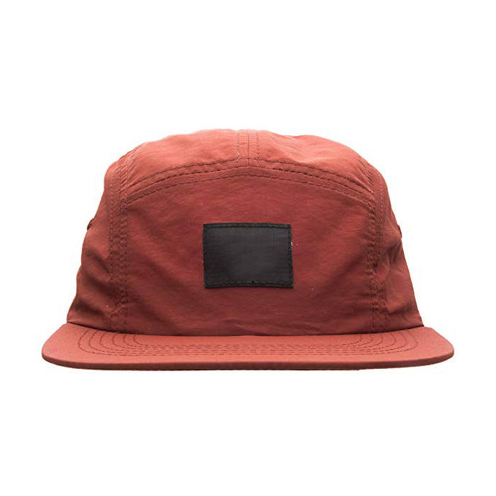 Wholesale Factory Price 5Panel Cap Nylon Running Lightweight Cap With Snap Closure