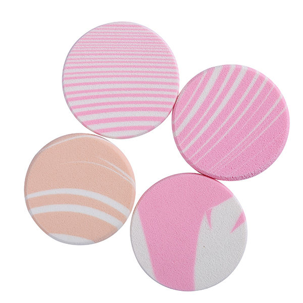 Manufacture Cosmetic Makeup round shaped sponge compact powder puff