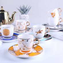 Wholesale Porcelain China Ceramic Coffee Mug Tea Espresso Cup and Saucer Sets