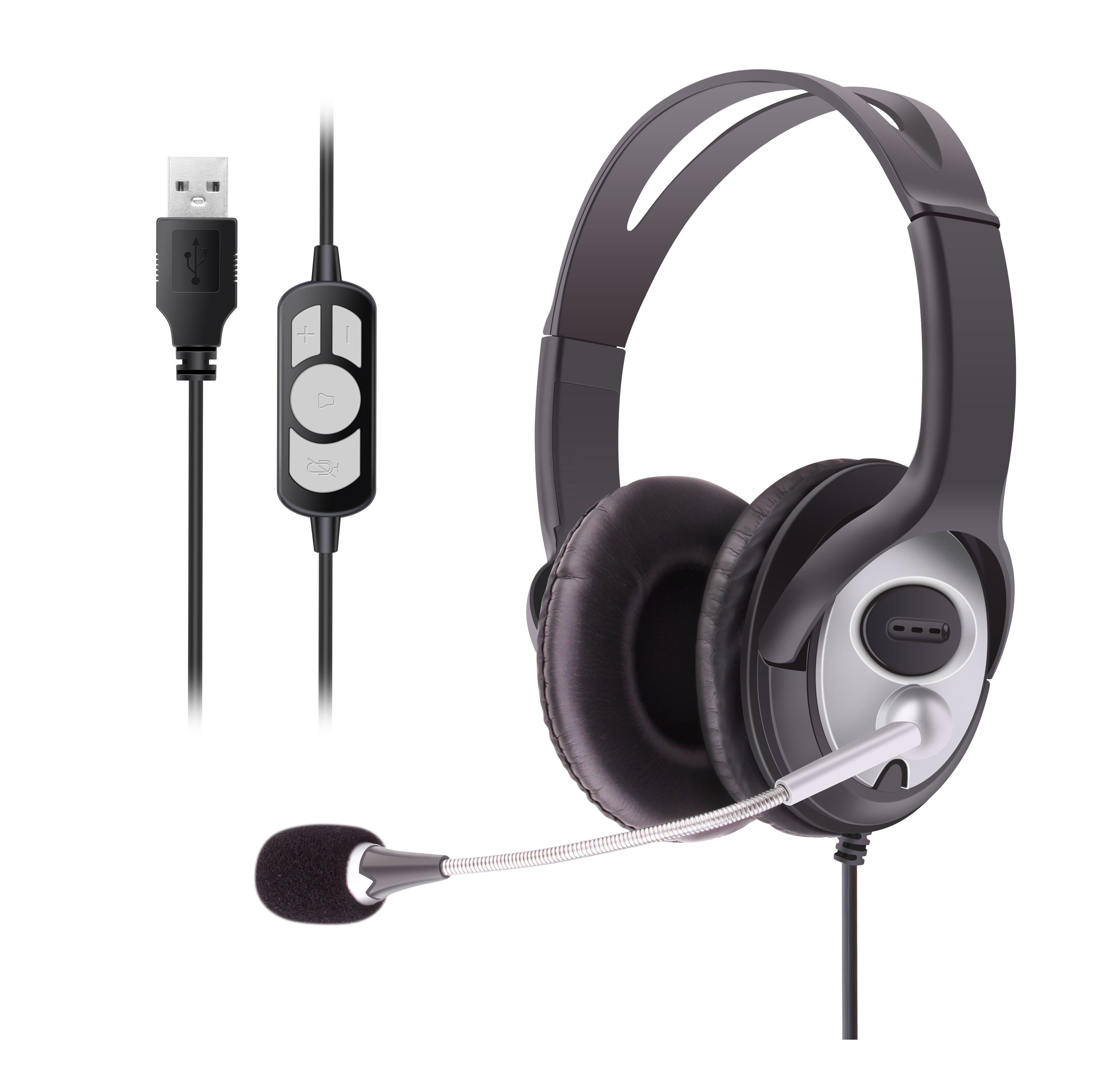 Smaller Light Weight Microphone OV Headphones Cheaper Gaming Pc Headphone Business Wired Usb Headphone