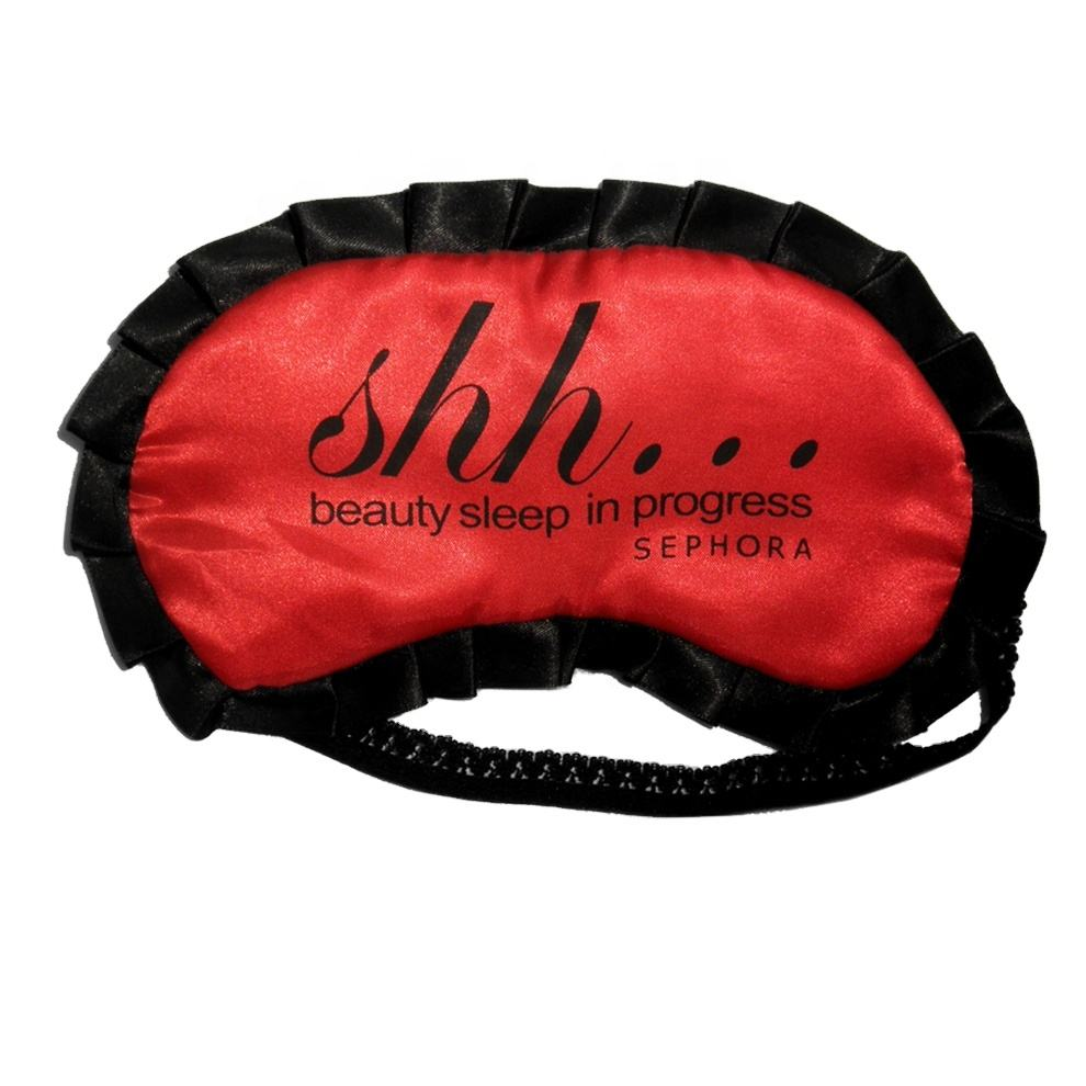 Promotional Cotton Material Silk Collagen Eye Mask Sleep Satin Sleeping Mask Eye