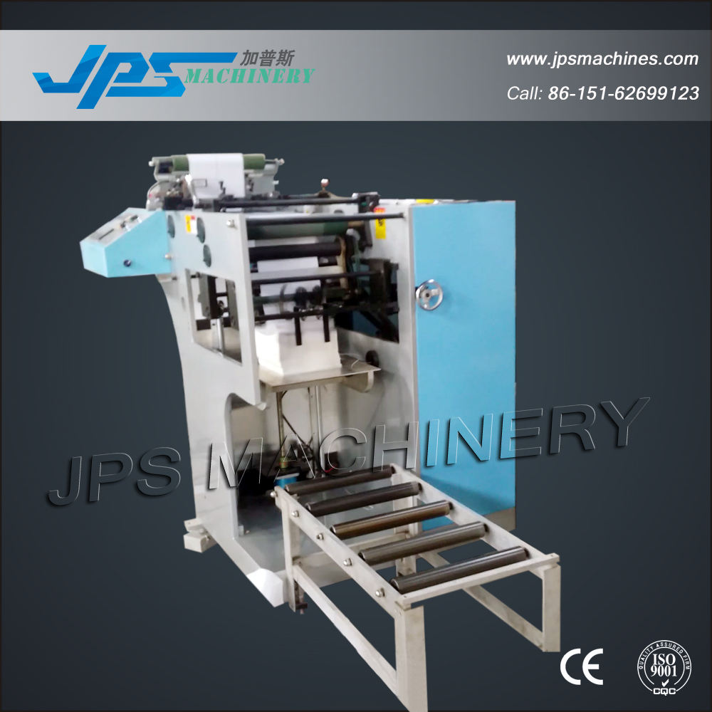 JPS-320ZD 320mm Automatic Self-adhesive Label Paper Fan Folding Machine With Slitting Function