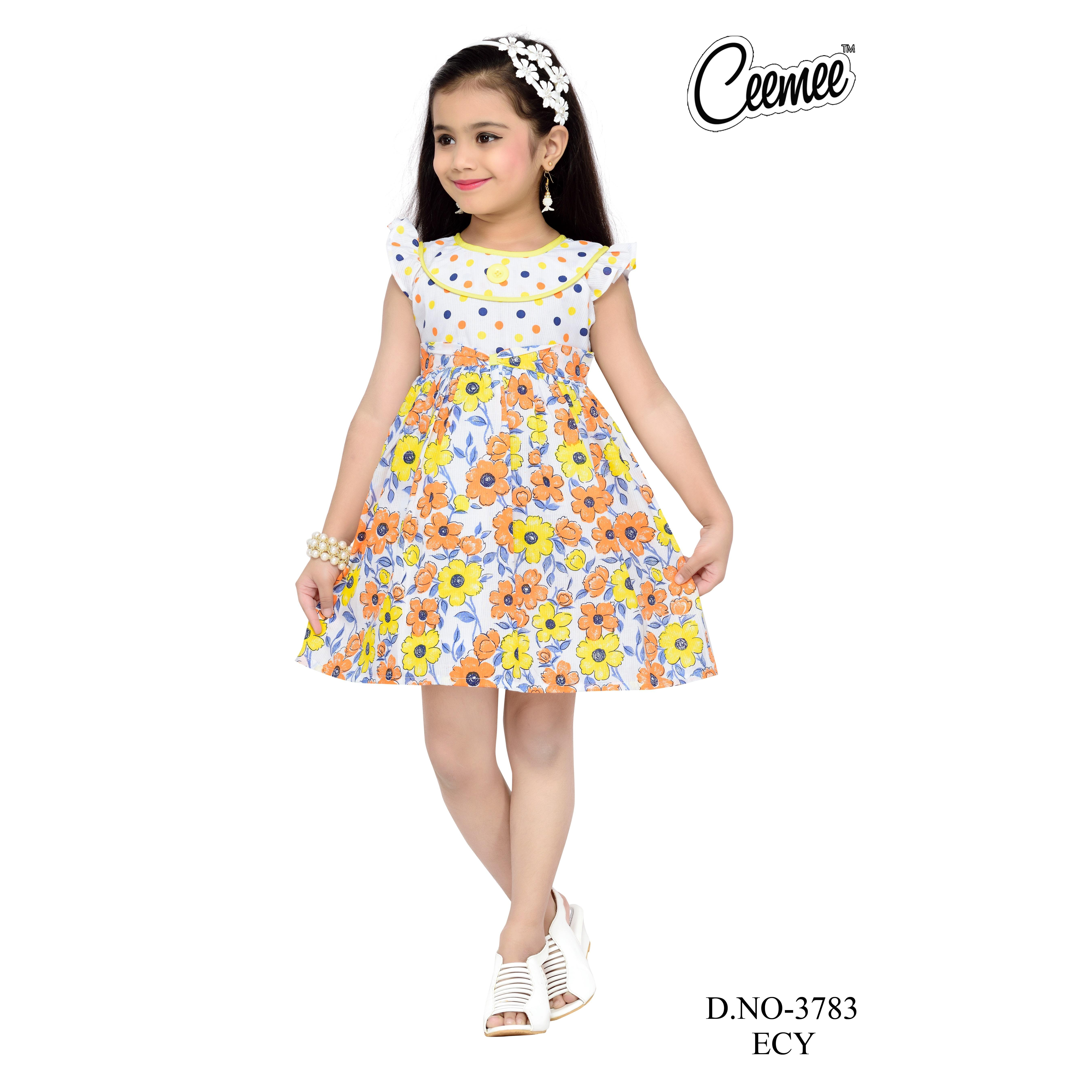 Simple Design Printed Cotton Frock For Girls Buy Children Wear Printed Design Cotton Frocks Beautiful Looking Suits Frock For Girls New Style Girls Frock Designs For Party Wear Product On Alibaba Com