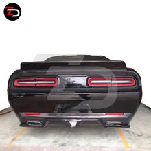 2015 to 2016 ZD Style Carbon Rear Bumper Lip For Dodge challenger SRT Hellcat